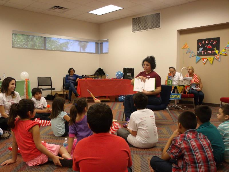 Mayor Pro Tem Esmeralda Lozano read a Dr. Seuss book to the children