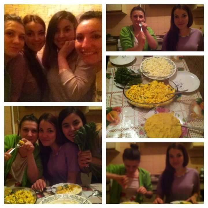 Photo Collage: Moldova Students at Dinner