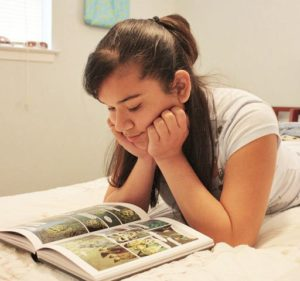 Photo: Girl Reading